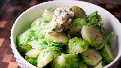 Photo of Blue Cheese + Mustard-Buttered Brussels Sprouts